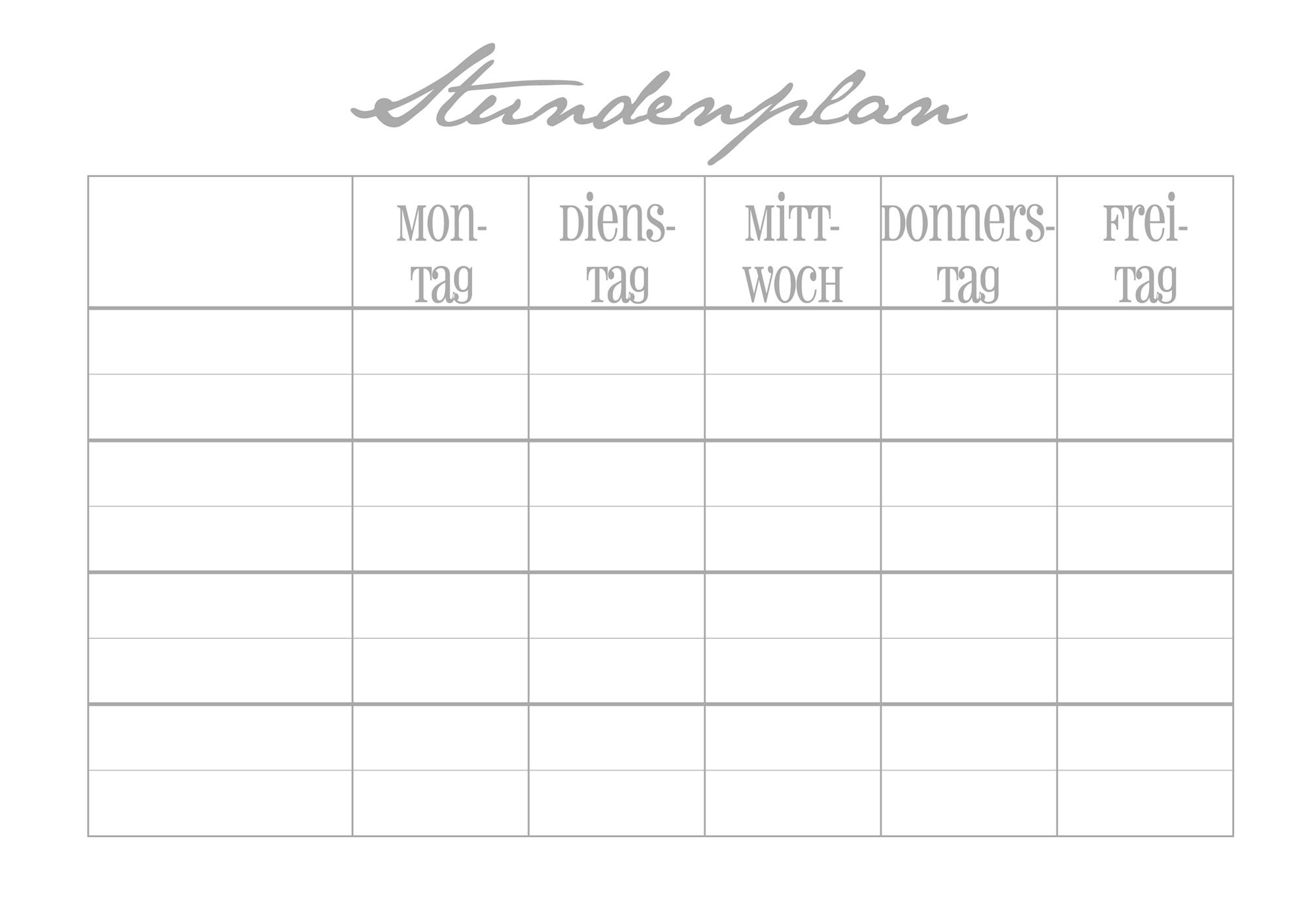 Ausgezeichnet Lehrer Stundenplan Vorlage Ideen - Entry Level Resume ...