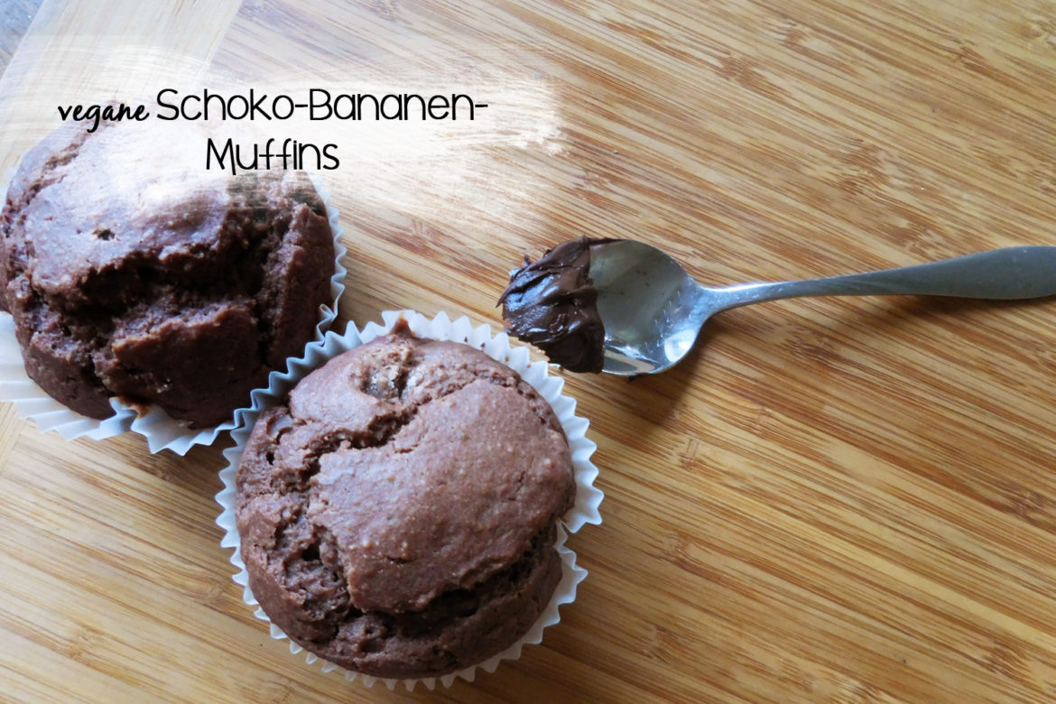 rezept vegane schoko bananen muffins. Black Bedroom Furniture Sets. Home Design Ideas